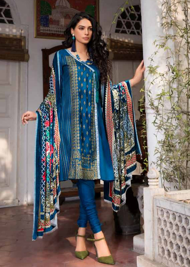 ESHT513 Eshaaisha TWILL / KHADDAR / KARANDI EMBROIDERED COLLECTION 2018