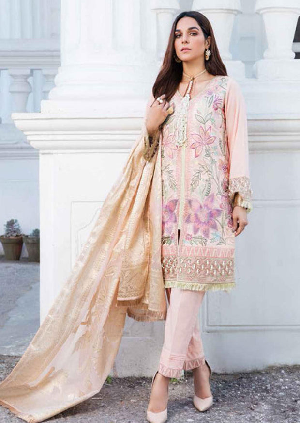 EA-514 Unstitched Eshaisha Luxury Lawn Embroidered Collection 2020 - Memsaab Online