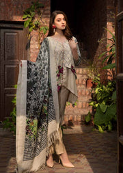 ESHT516 Eshaaisha TWILL / KHADDAR / KARANDI EMBROIDERED COLLECTION 2018