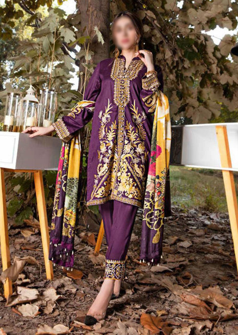 EW-516 - Unstitched - Eshaisha Luxury Winter Embroidered Collection 2020 - Memsaab Online