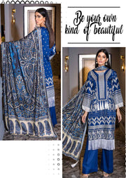 EA-516 Unstitched - Eshaisha Luxury Winter Embroidered Collection 2019 - Pakistani Designer Clothes - Memsaab Online
