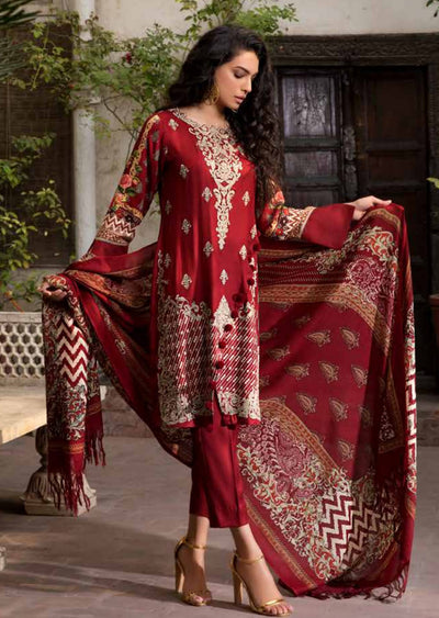 ESHT517 Eshaaisha TWILL / KHADDAR / KARANDI EMBROIDERED COLLECTION 2018