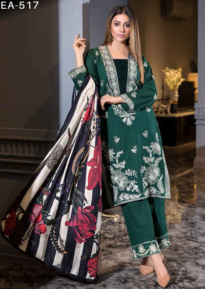Unstitched - Eshaisha Luxury Winter Embroidered Collection 2019 - Pakistani Designer Clothes - Memsaab Online