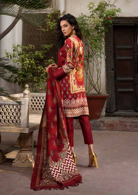 ESHT517 Eshaaisha TWILL / KHADDAR / KARANDI EMBROIDERED COLLECTION 2018 - Memsaab Online