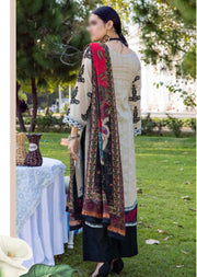 EA-517 Unstitched Eshaisha Luxury Lawn Embroidered Collection 2020 - Memsaab Online