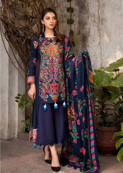 ESHT518 Eshaaisha TWILL / KHADDAR / KARANDI EMBROIDERED COLLECTION 2018