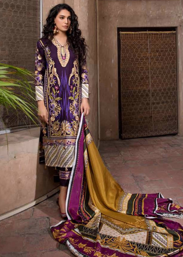 ESHT519 Eshaaisha TWILL / KHADDAR / KARANDI EMBROIDERED COLLECTION 2018