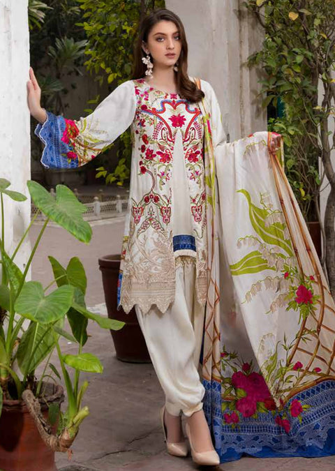 ESHT520 Eshaaisha TWILL / KHADDAR / KARANDI EMBROIDERED COLLECTION 2018 - Memsaab Online