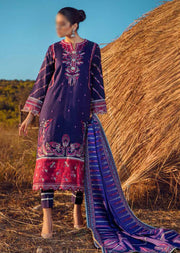ESA-520 - Eshaisha Luxury Winter Embroidered Collection 2020 - Unstitched Pakistani Designer Suit - Memsaab Online