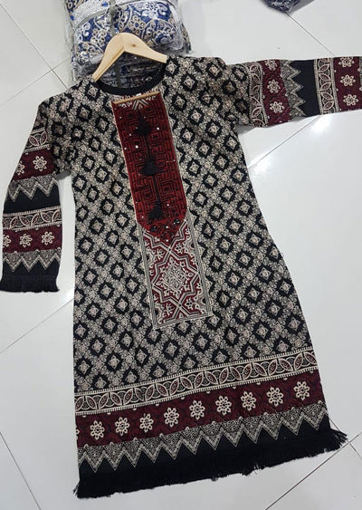 ZA522 Readymade Linen Embroidered Kurti - Memsaab Online