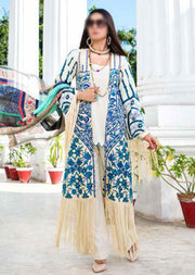 EA-522 Unstitched Eshaisha Luxury Lawn Embroidered Collection 2020 - Memsaab Online