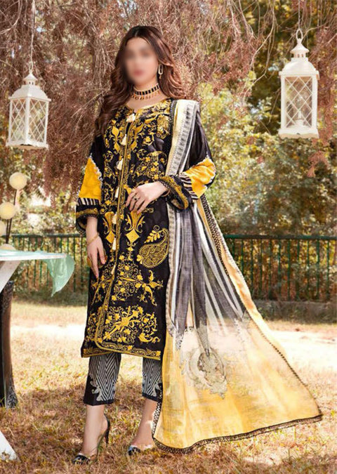 EW-522 - Unstitched - Eshaisha Luxury Winter Embroidered Collection 2020 - Memsaab Online