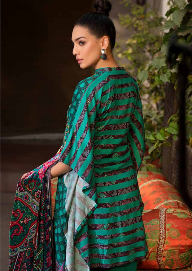 ESHT523 Eshaaisha TWILL / KHADDAR / KARANDI EMBROIDERED COLLECTION 2018
