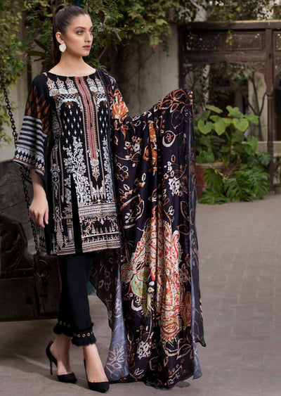 ESHT524 Eshaaisha TWILL / KHADDAR / KARANDI EMBROIDERED COLLECTION 2018