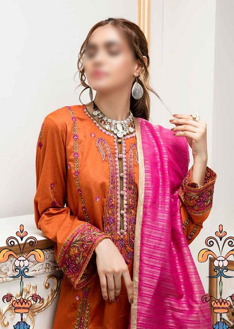 AE-524 Unstitched Abiha's by Eshaisha Luxury Lawn Embroidered Collection 2020 - Memsaab Online