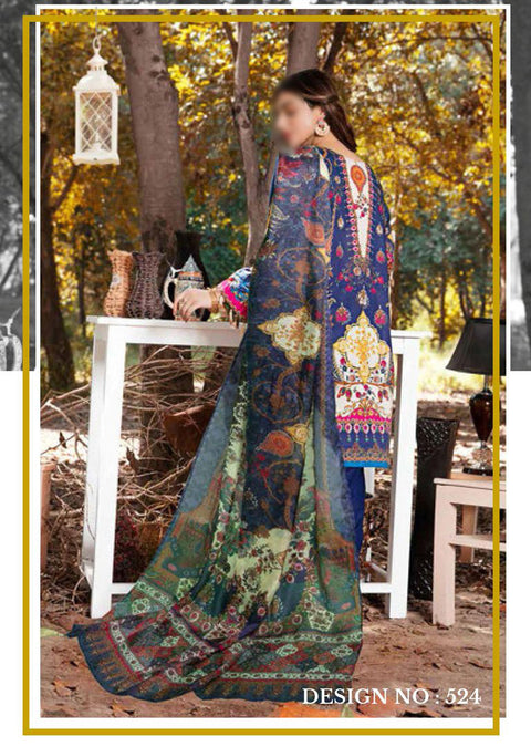 EW-524 - Unstitched - Eshaisha Luxury Winter Embroidered Collection 2020 - Memsaab Online