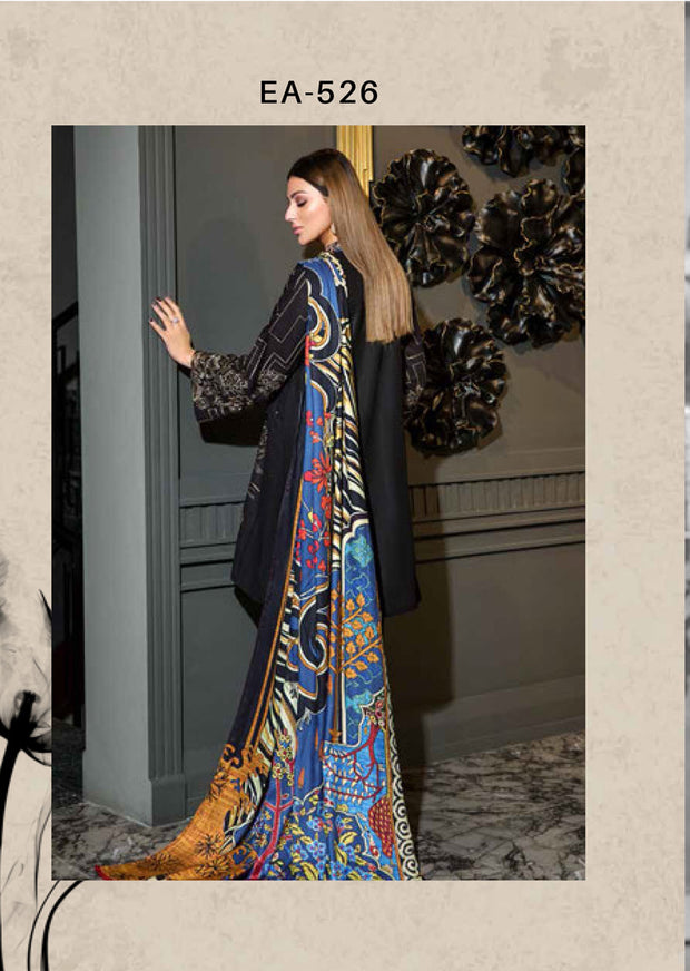EA-526 Unstitched - Eshaisha Luxury Winter Embroidered Collection 2019 - Pakistani Designer Clothes - Memsaab Online