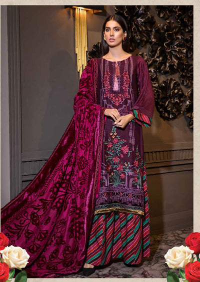 EA-527 Unstitched - Eshaisha Luxury Winter Embroidered Collection 2019 - Pakistani Designer Clothes - Memsaab Online