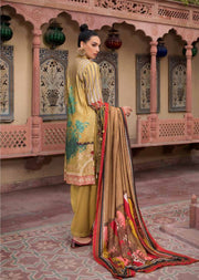 ESHT529 Eshaaisha TWILL / KHADDAR / KARANDI EMBROIDERED COLLECTION 2018