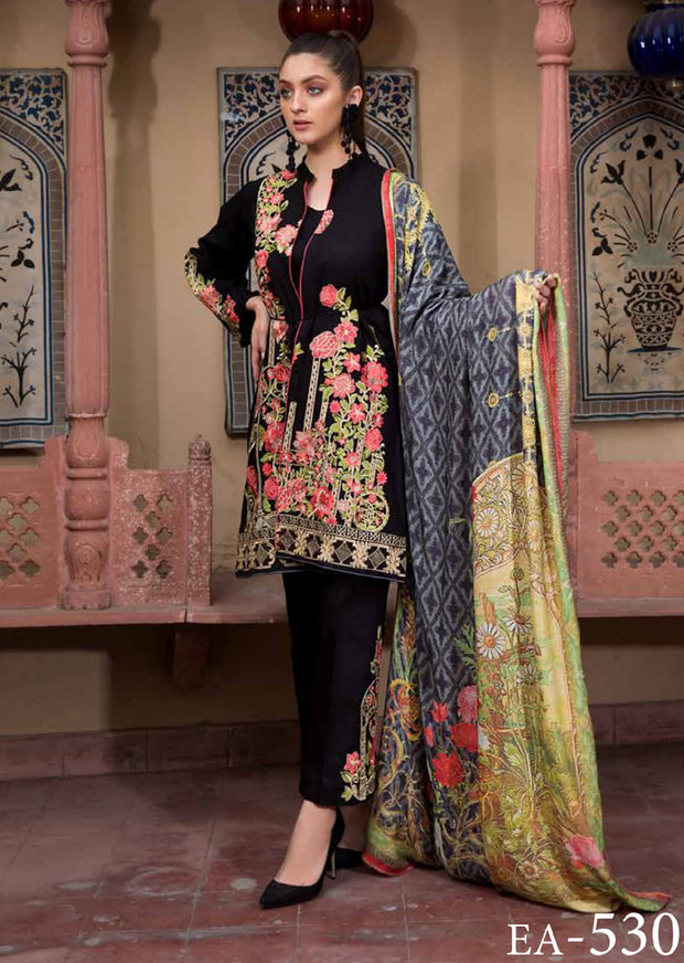 ESHT530 Eshaaisha TWILL / KHADDAR / KARANDI EMBROIDERED COLLECTION 2018