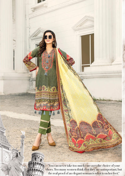 NS05 - Unstitched - Nishat Maysoori Embroidered Collection Vol 1 - Memsaab Online