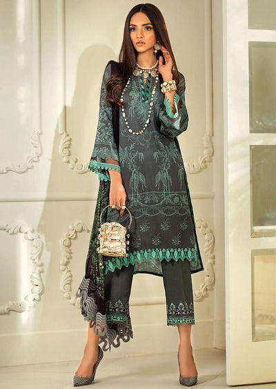 M203-005B - Unstitched - Sana Safinaz Muzlin Winter Collection 2020 - Memsaab Online