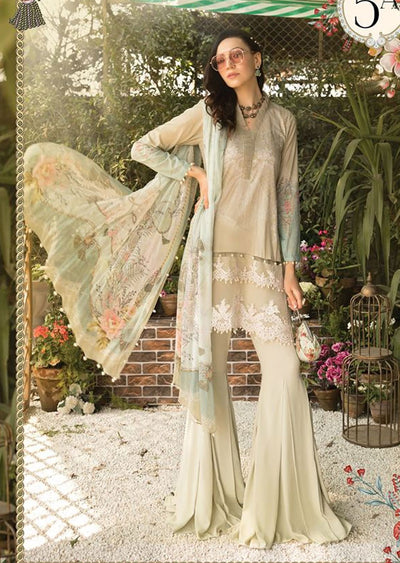 MBS05 - A - Unstitched - Maria B MPrints Summer Collection 2020 - Memsaab Online