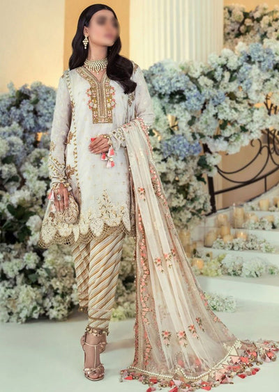 E201-005A - Unstitched - Sana Safinaz Luxury Festive Collection 2020 - Memsaab Online