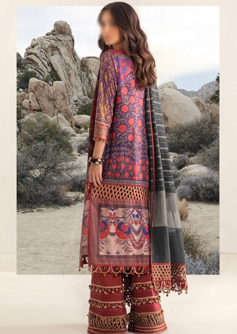 B205-A - Unstitched Kurnool Luxury Collection By Sana Safinaz 2020 - Memsaab Online