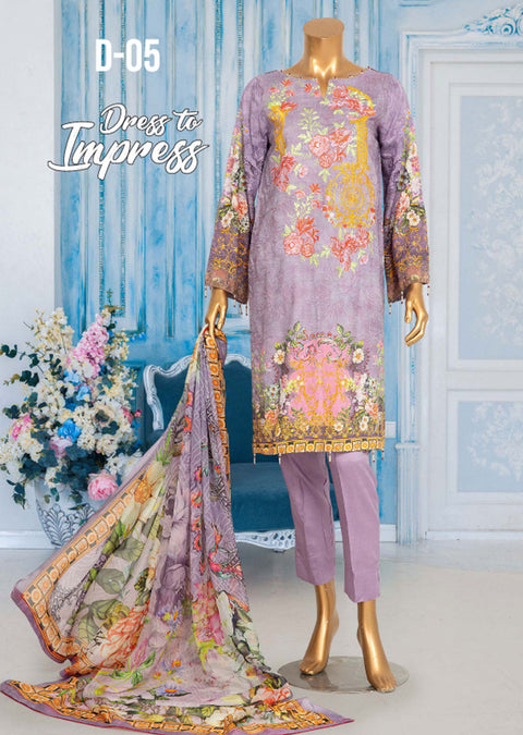 JUR05 Unstitched - Urwa - Viscose Suit by Javed Arts - Memsaab Online