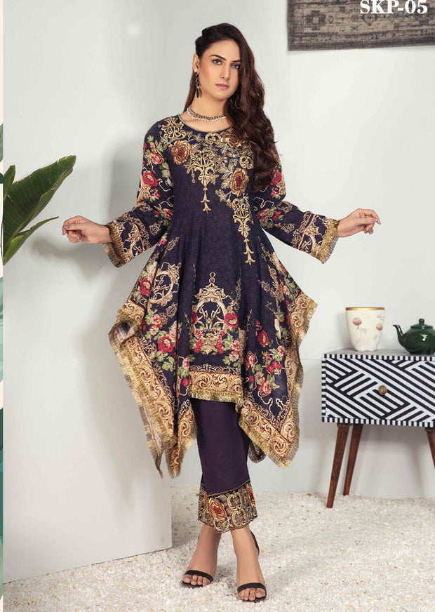 SKP-05 - Readymade - Riwayat Khaddar Collection by Simrans - Memsaab Online