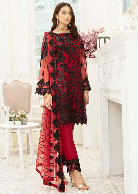 F1905 - Unstitched Ramsha Luxury Chiffon Collection Vol 19 - Memsaab Online