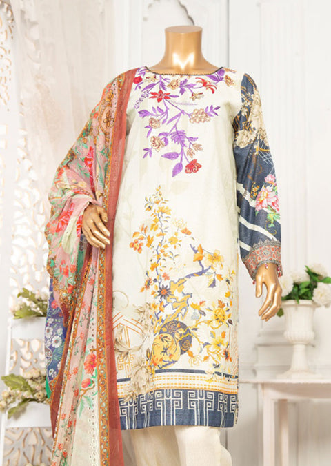 JA05 Unstitched - Yaqoot - Karandi Suit by Javed Arts - Memsaab Online