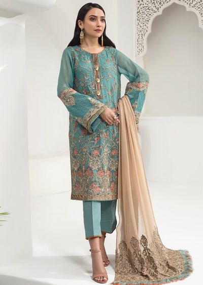ALZ05 - Tiffany Glam - Unstitched - Alizeh Chiffon Collection Vol 1 2020 - Memsaab Online