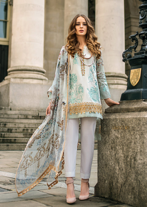 5A Mina Hasan Festive Luxury Lawn 2019 - Pakistani Designer Suit Worldwide Delivery - Memsaab Online
