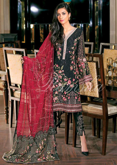 Ramsha Zari Volume 15 Glorious Collection - pakistani embroidered chiffon salwar kameez uk - Memsaab Online