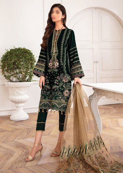 JAZ05 - Mala - Unstitched - Jazmin Mahpare Luxury Chiffon Collection 2020 - Memsaab Online