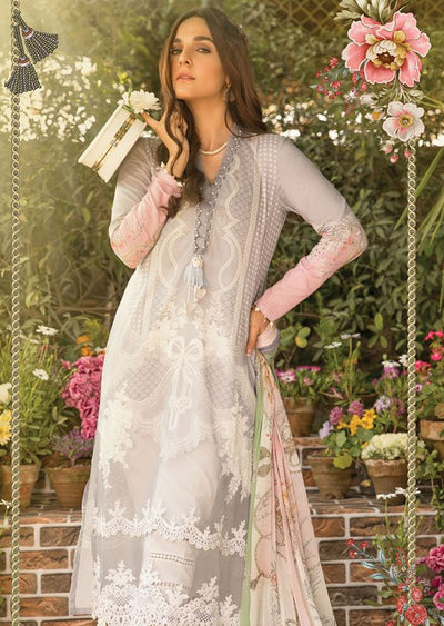 MBS05 - B - Unstitched - Maria B MPrints Summer Collection 2020 - Memsaab Online