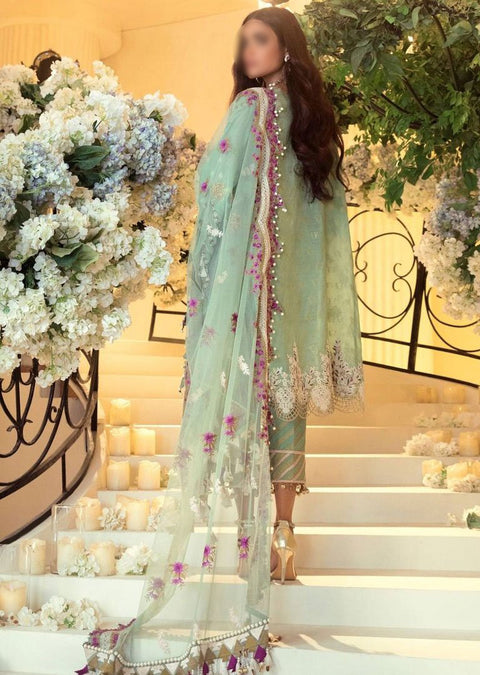 E201-005B - Unstitched - Sana Safinaz Luxury Festive Collection 2020 - Memsaab Online
