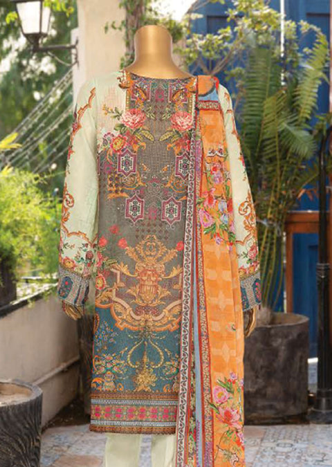 JAL05 Unstitched - Aleeza Lawn Suit by Javed Arts - Memsaab Online
