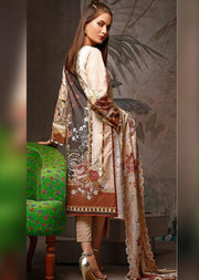 05-B Firdous Inspired Unstitched Linen Wool Shawl - Memsaab Online