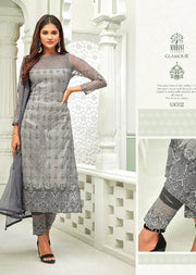 63002 Mohini Glamour Vol 63 - Net Pakistani Style Kameez Suits with Handwork - Memsaab Online