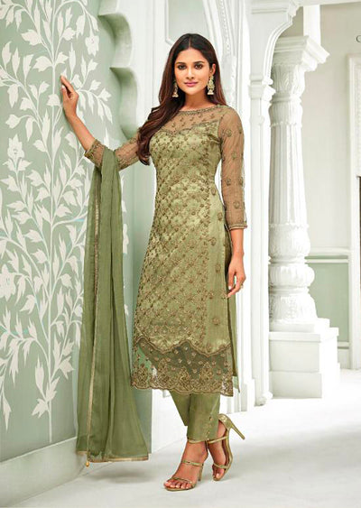 63003 Mohini Glamour Vol 63 - Net Pakistani Style Kameez Suits with Handwork - Memsaab Online
