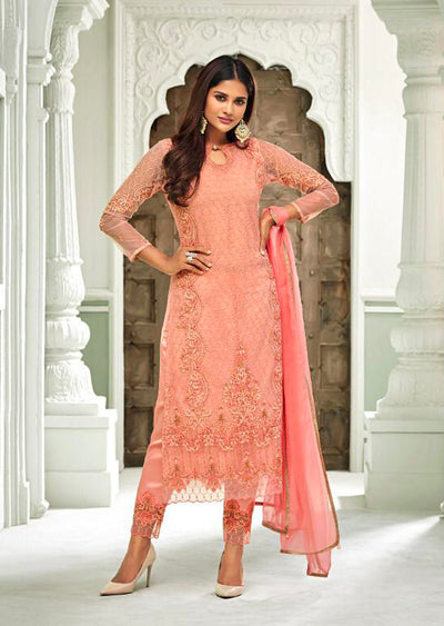 63005 Mohini Glamour Vol 63 - Net Pakistani Style Kameez Suits with Handwork - Memsaab Online