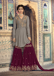 6901 Maisha Riwayat - Indian Partywear Dress and shararah collection for mother and daughter Eid Collection 2019 - Memsaab Online