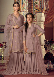 6904 Maisha Riwayat - Indian Partywear Dress and shararah collection for mother and daughter Eid Collection 2019 - Memsaab Online