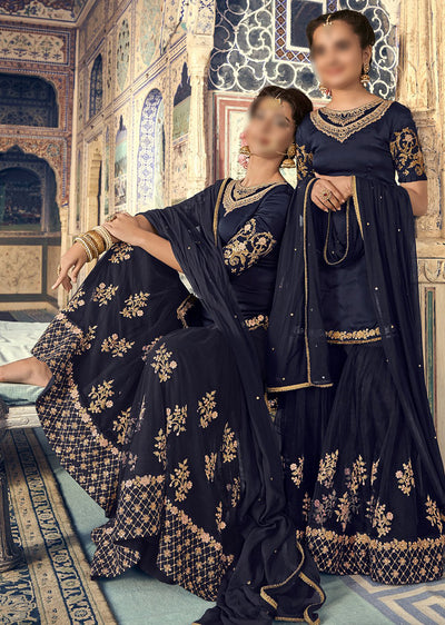 6906 Maisha Riwayat - Indian Partywear Dress and shararah collection for mother and daughter Eid Collection 2019 - Memsaab Online