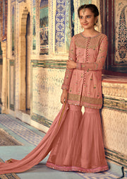 Maisha Riwayat - Indian Partywear Dress and shararah collection for mother and daughter Eid Collection 2019 - Memsaab Online