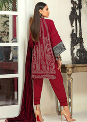 M203-006A - Unstitched - Sana Safinaz Muzlin Winter Collection 2020 - Memsaab Online