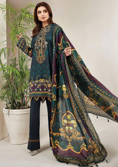 FRS06 Tropical - Unstitched Farasha Embroidered Lawn Suit 2020 - Memsaab Online